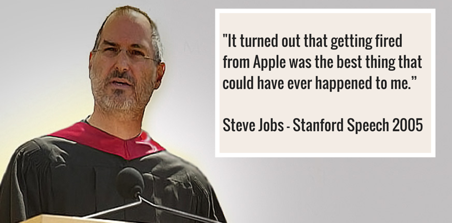 Take it from Steve Jobs – Losing your job could be the best thing…